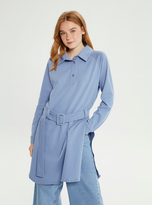 Baby Blue - Point Collar - Tunic