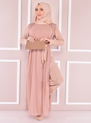 Beige - Evening Jumpsuits