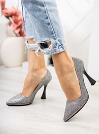 Silver - High Heel - Evening Shoes