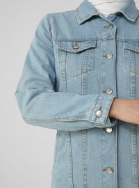 Ice Blue - Unlined - Point Collar - Jacket