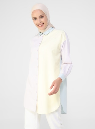 Multi - Point Collar - Cotton - Tunic