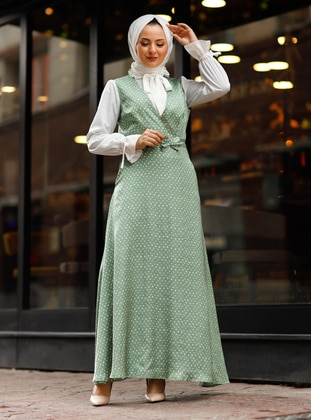 Green - Polka Dot - Fully Lined - Suit