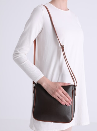 Brown - Black - Crossbody - Satchel - Shoulder Bags
