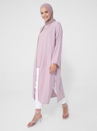 Lilac - Unlined - Viscose - Suit