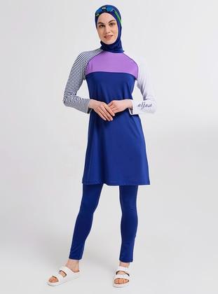 Indigo - Multi - Half Coverage Swimsuit