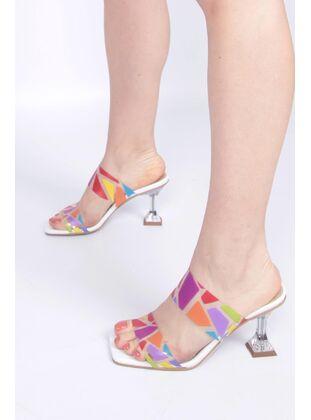 White - Sandal - Evening Shoes - MODABUYMUŞ