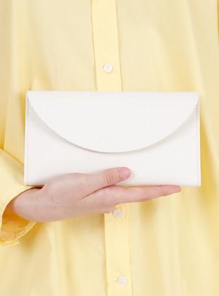 White - Clutch - Wallet