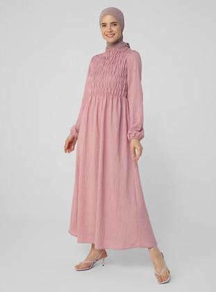 - Crew neck - Unlined - Viscose - Modest Dress