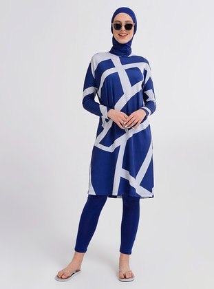 Indigo - Multi - Half Coverage Swimsuit - Alfasa