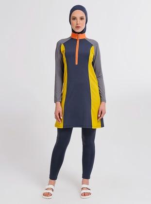 Anthracite - Multi - Half Coverage Swimsuit