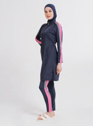 - Multi - Fully Lined - Full Coverage Swimsuit Burkini