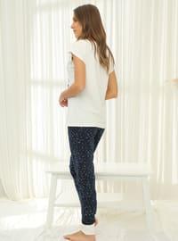 White - Crew neck - Pyjama Set
