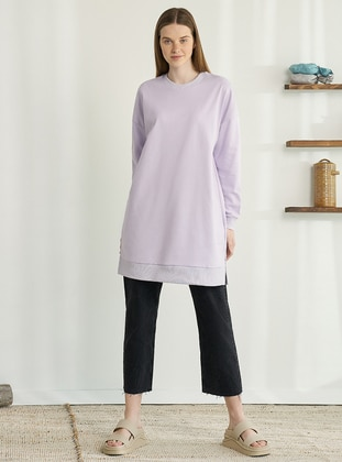 Crew neck - Lilac - Sweat-shirt
