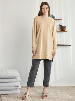 Crew neck - Mink - Sweat-shirt