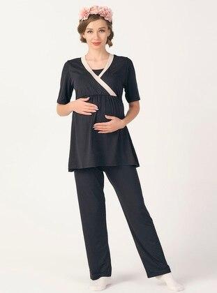 Navy Blue - Maternity Pyjamas - PrettyChic