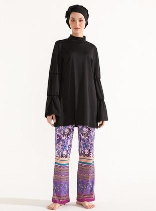 Multi - Unlined - Swimwear Pants
