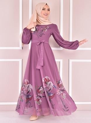 Dusty Rose - Modest Evening Dress