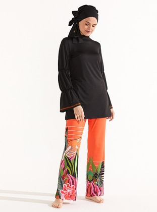 Multi - Unlined - Full Coverage Swimsuit Burkini