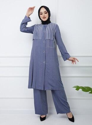 Blue - Stripe - Suit