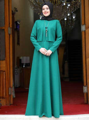 Emerald - Unlined - Crew neck - Evening Suit