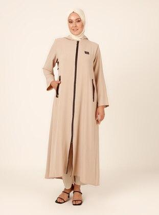 Cream - Unlined - Plus Size Abaya
