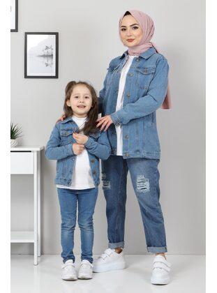 Blue - Unlined - Point Collar - Jacket - MISSVALLE
