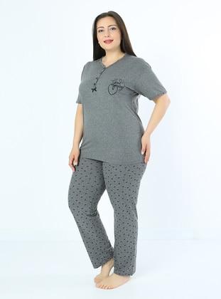 Smoke - Multi - Plus Size Pyjamas - Fawn