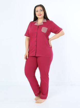 Purple - Multi - Plus Size Pyjamas