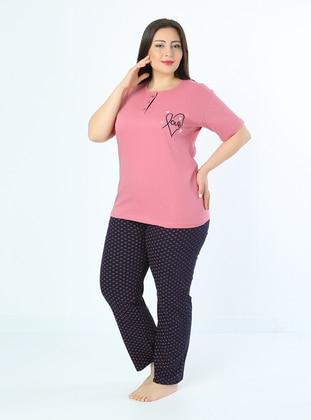 Rose - Multi - Plus Size Pyjamas - Fawn
