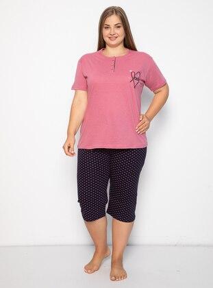 Rose - Multi - Plus Size Pyjamas
