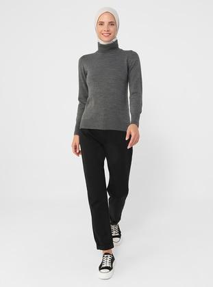 - Polo neck - Unlined - Knit Tunics