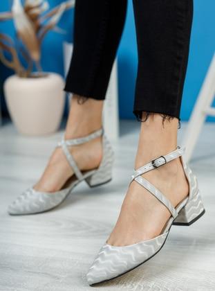 Silver tone - High Heel - Evening Shoes - Ayakkabı Havuzu