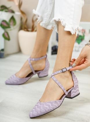 Lilac - High Heel - Evening Shoes - Ayakkabı Havuzu