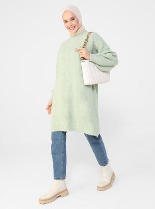 Mint - Crew neck - Unlined - Knit Tunics