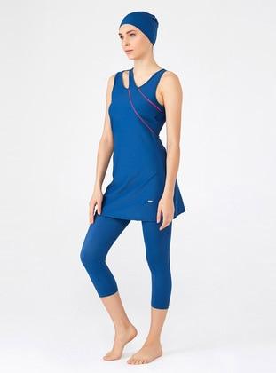 Navy Blue - Half Coverage Swimsuit
