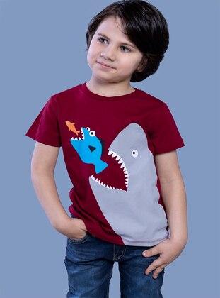 Maroon - Boys` T-Shirt