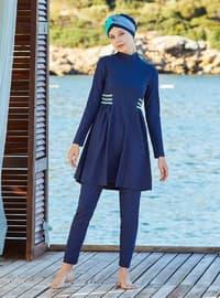 Dark Navy Blue - Full Coverage Swimsuit Burkini