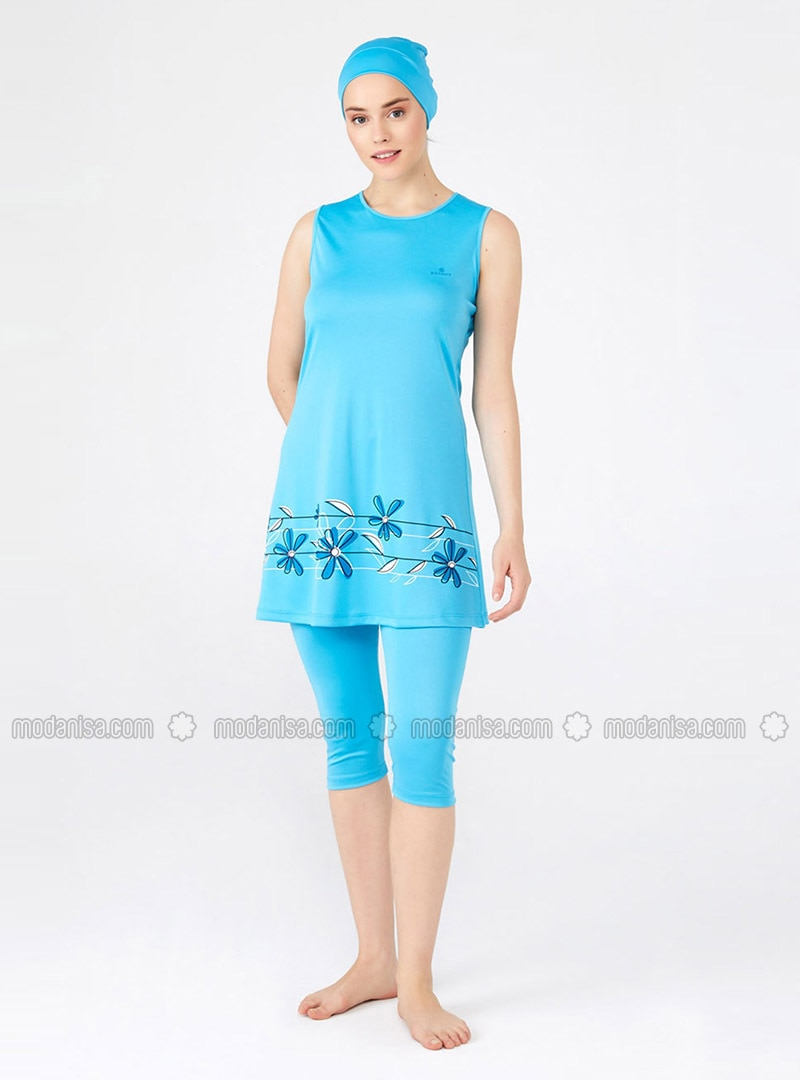 Turquoise - Half Coverage Swimsuit