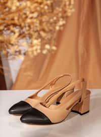 Beige - Black - High Heel - Heels
