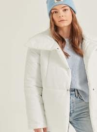 Ecru - Plus Size Coat