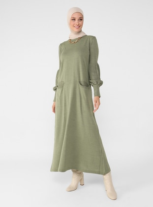 Green Almond - Unlined - Crew neck - Knit Dresses