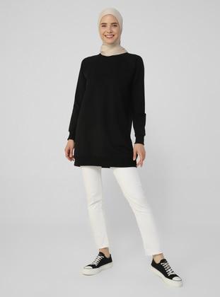Crew neck - Black - Cotton - Sweat-shirt