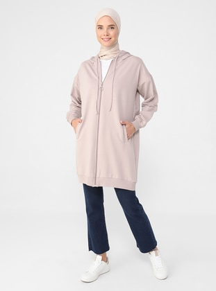 - Pink - Unlined - Cotton - Topcoat