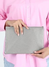 Gray - Clutch - Clutch Bags / Handbags