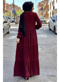 Maroon - Modest Dress