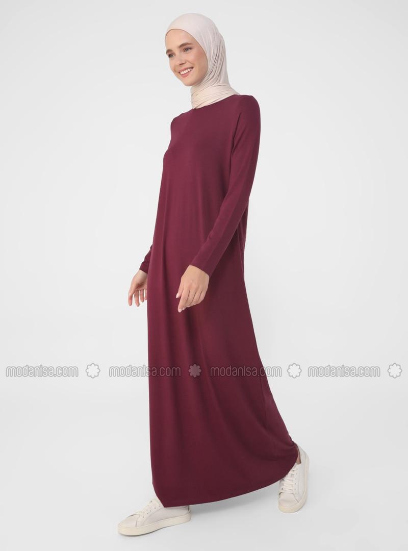 - Crew neck - Viscose - Modest Dress