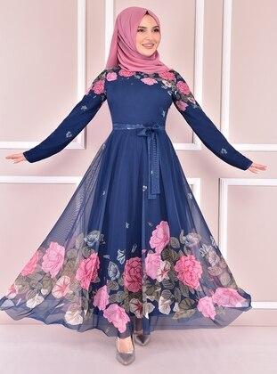 Petrol - Modest Evening Dress