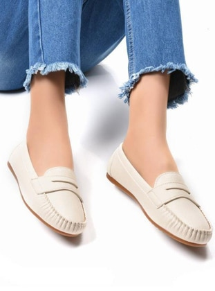 Flat - Beige - Casual Shoes