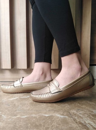 Flat - Gold - Casual Shoes