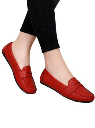 Flat - Red - Casual Shoes